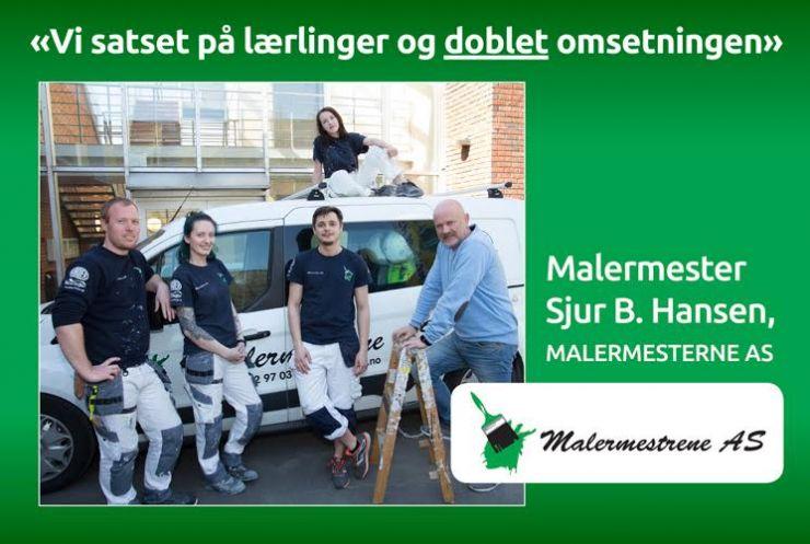 Satset på lærlinger - doblet omsetningen Sjur B. Hansen i Malermesterne AS